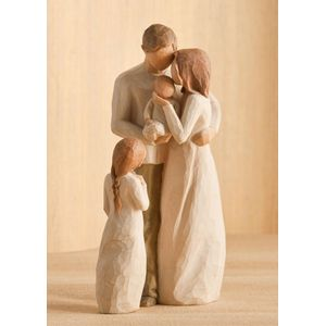 Willow Tree Figurines Set Mother Father & Baby with Daughter Option 1
