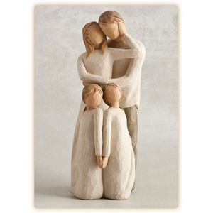 Willow Tree Set Mother & Father with Twin Daughters