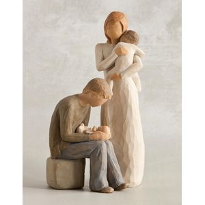 Willow Tree Figurines Set Mother & Father with Two Babies