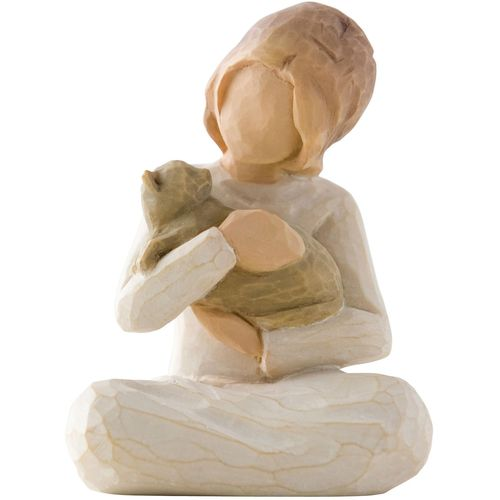Willow Tree Mother Father Three Children and Kitten/Cat Figurine Set 26129 26169 26218