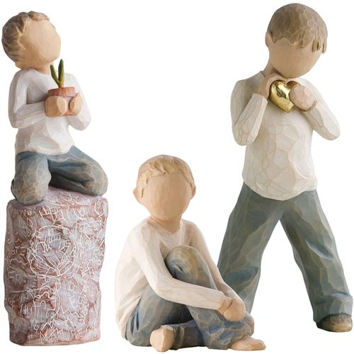 Willow Tree Set of Three Brothers Figurine Gift Set 26142 27269 26228