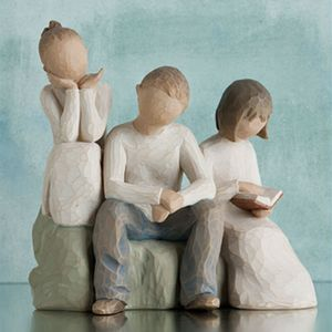 Willow Tree Figurines Set Siblings - Brother & Two Sisters Option 1
