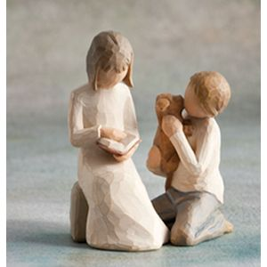 Willow Tree Figurines Set Siblings - Sister with Brother