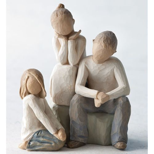 Willow Tree Siblings Figurine Set Brother with 2 Sisters 26187 26223