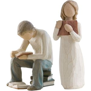 Willow Tree Figurines Set Siblings - Older Brother & Sister