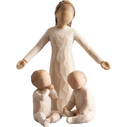 Willow Tree Siblings Big Sister with Twin Babies Figurine Set 26186 26188