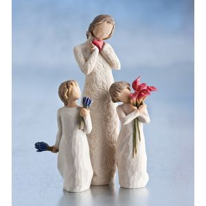Willow Tree Figurines Set Mother with Two Daughters