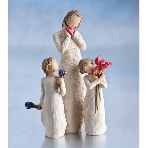 Willow Tree Set Mother with Two Daughters 26231 26465 27159 Figurine Gift Set
