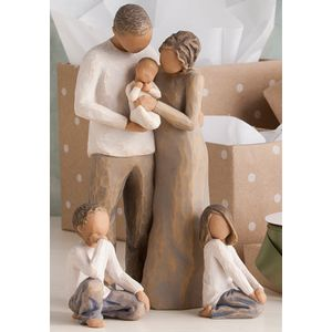 Willow Tree Figurines Set Parents & Baby with Son & Daughter