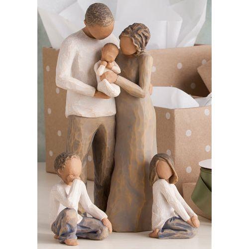 Willow Tree Parents with Three Children Figurine Set 26223 26227 27268