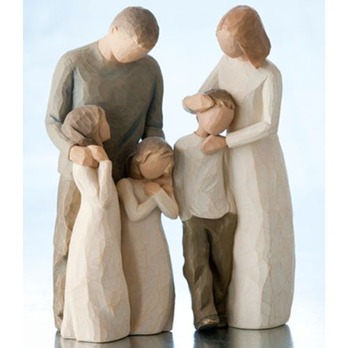Willow Tree Parents with Three Children Figurine Gift Set 26102 26232