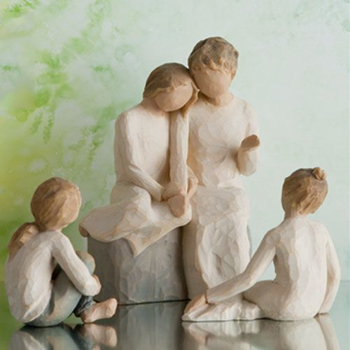 Willow Tree Grandmother with Three Granddaughters Figurine Set 26224 26225 26244