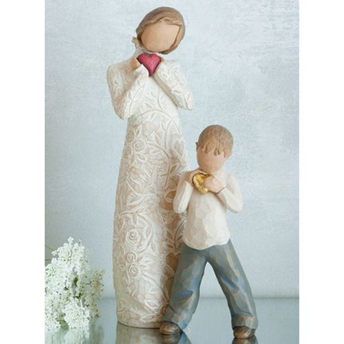 Willow Tree Mother with Son Figurine Gift Set Family Group 26142 26231