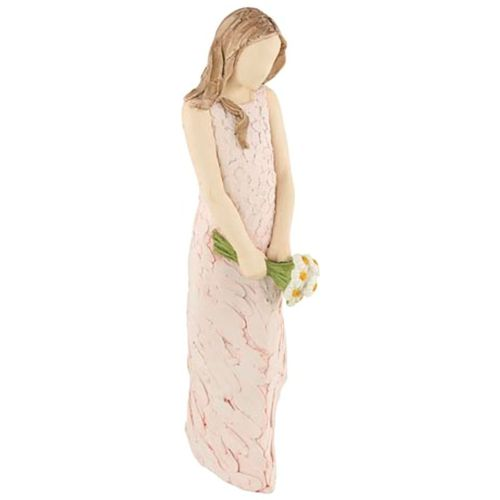 More Than Words Lady Figurine holding flowers