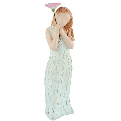 Arora Design Girl holding flower More Than Words Figurine