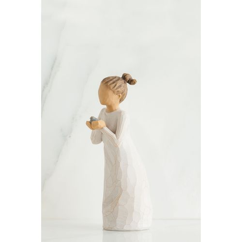 Willow Tree Nuture Figurine 27560 Girl Holding Bird