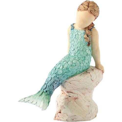 Arora Design Little Mermaid sitting on rock More Than Words Figurine