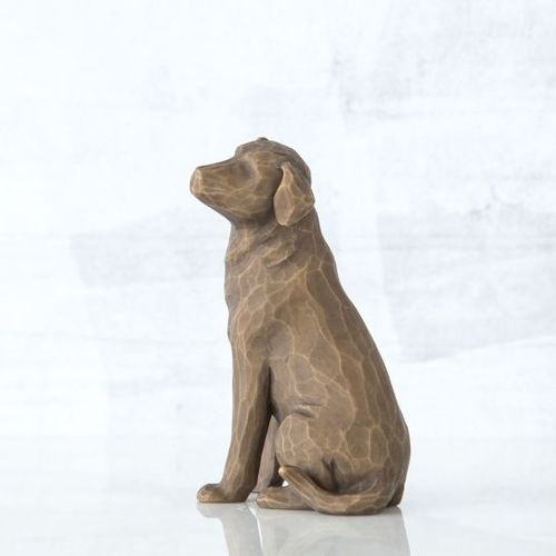 Willow Tree Love My Dog Figurine (Dark) 28611