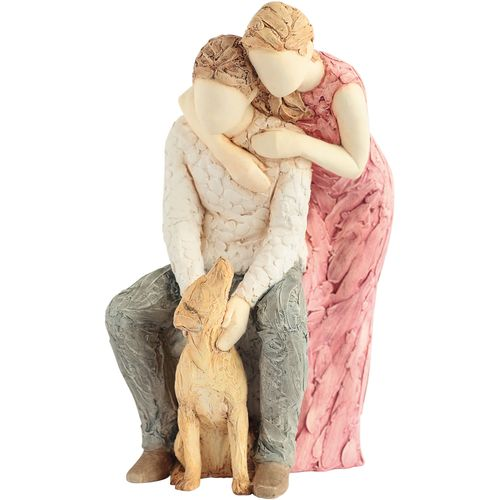 More than Words couple with dog figurine