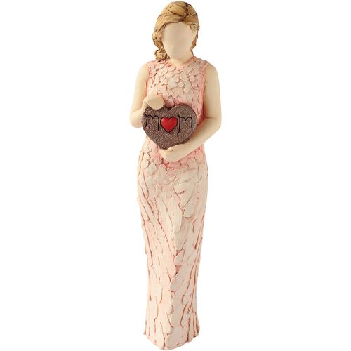 Arora Design Lady Figurine holding Heart Plaque by Arora Design