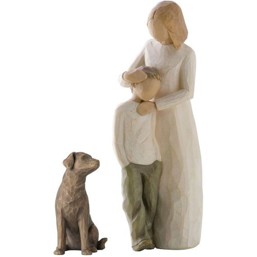Willow Tree Mother & Son With Dog Figurine Gift Set 26102 27683