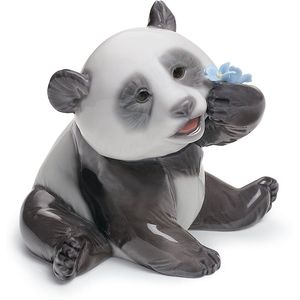 Lladro A Happy Panda Figurine