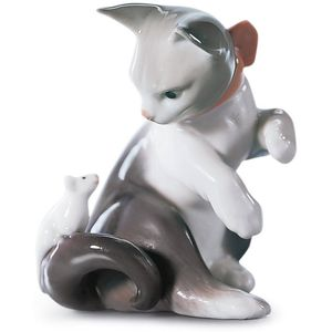 Lladro Cat & Mouse Figurine