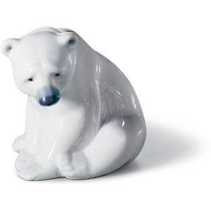 Lladro Seated Polar Bear Figurine