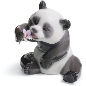 Lladro A Cheerful Panda Figurine