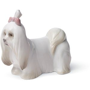 Lladro Maltese Dog Figurine