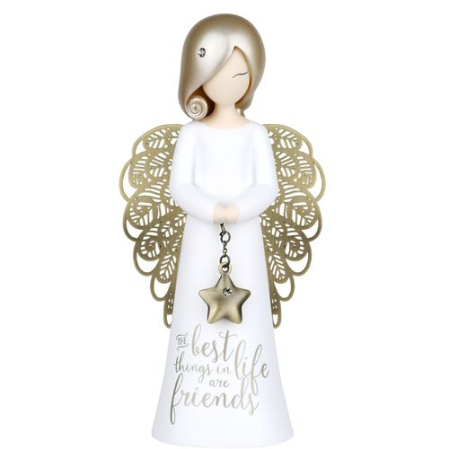 You Are An Angel Figurine - The Best Things In Life Are Friends ASF004