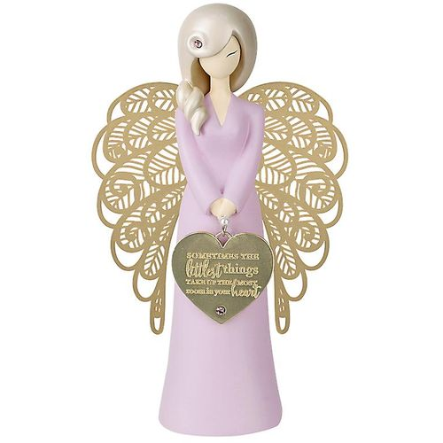 You Are An Angel Figurine - Sometimes The Littlest Things Take Up The Most Room In Your Heart (Pink)