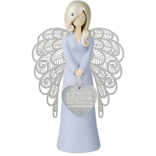 You Are An Angel Figurine - Sometimes The Littlest Things Take Up The Most Room In Your Heart (Blue)