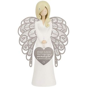 You Are An Angel Figurine - Always Believe (Silver)