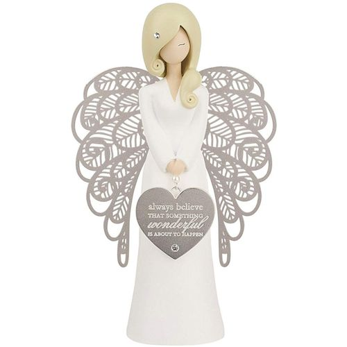 You Are An Angel Figurine -  Always Believe That Someting Wonderful Is About To Happen AN017
