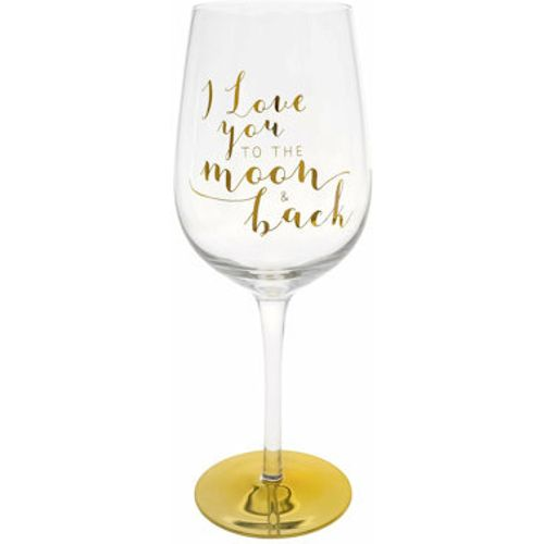 You Are An Angel Wine Glass - Moon And Back