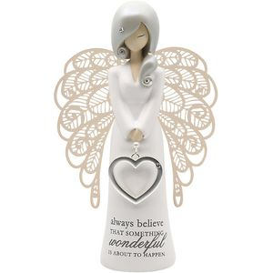 You Are An Angel Figurine - Always Believe (Gold)