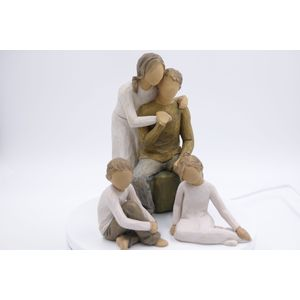 Willow Tree Figurines Set Mother & Father with Daughter & Son