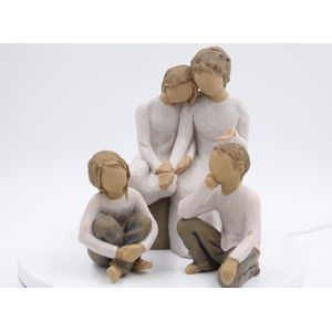 Willow Tree Figurines Set Grandmother with Three Grandchildren Option 5