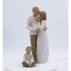 Willow Tree Figurines Set Mother Father & Baby with Son Option 3