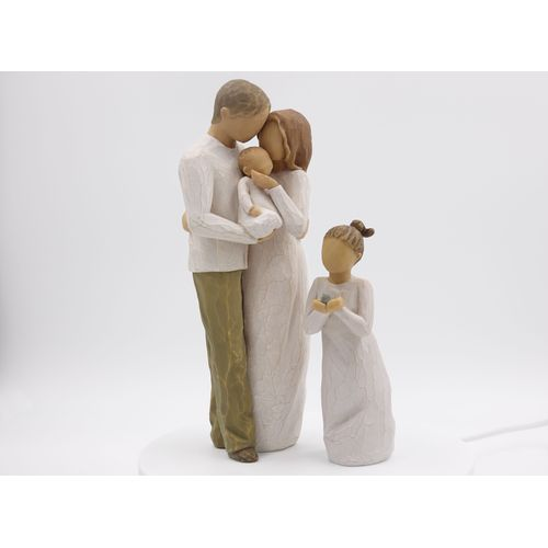 Willow Tree Figurines Set Mother Father & Baby with Daughter Option 2