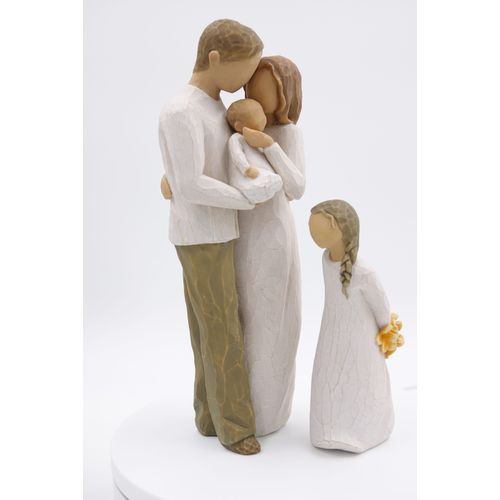 Willow Tree Figurines Set Mother Father & Baby with Daughter Option 3