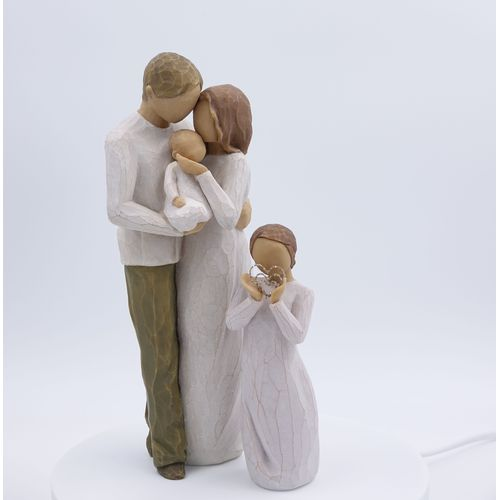 Willow Tree Figurines Set Mother Father & Baby with Daughter Option 5