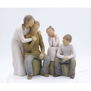 Willow Tree Figurines Set Mum & Dad with Son & Daughter