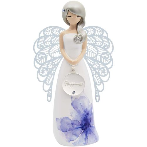 You Are An Angel Floral Figurine - Happiness AN035