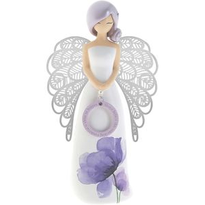 You Are An Angel Floral Figurine - Always Believe