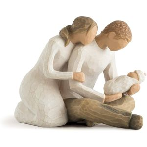 Willow Tree New Life Figurine (Mother Father & Baby)
